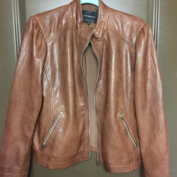 Lucky Brand Jackets & Blazers - Brown Leather Jacket
